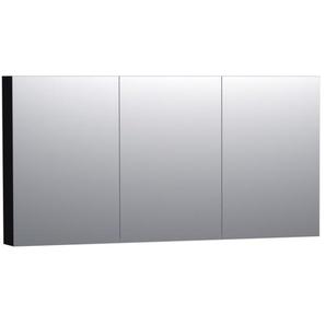 Saniclass Dual Armoire de toilette 140x70cm MDF Noir brillant 7167