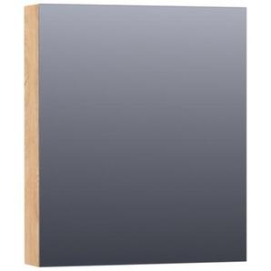 Saniclass Dual Armoire de toilette 59x70x15cm éclairage intégré rectangulaire 1 portes pivotantes MFC Nomad 7193