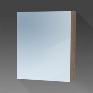 Saniclass Dual Armoire de toilette 60x70x15cm avec éclairage LED indirect porte ouvre sur la droite Legno Viola 7759