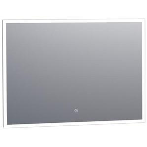 Saniclass Edge Miroir 100x70cm avec éclairage LED réglable et interrupteur tactile Aluminium 3960s