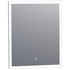 Saniclass Edge Miroir 60x70cm avec éclairage réglable et interrupteur tactile Aluminium 3950s