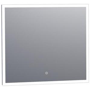 Saniclass Edge miroir avec éclairage à intensité réglable 80x70cm avec interrupteur tactile aluminium 3955s