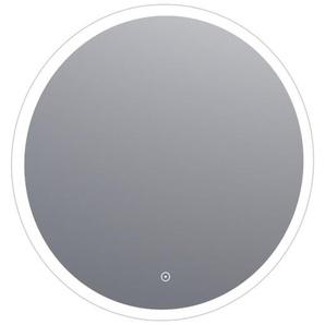 Saniclass Edge Miroir rond 70cm avec éclairage LED réglable et interrupteur tactile Aluminium 3990-70s