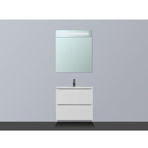 Saniclass EVO Meuble avec armoire miroir D 60cm 1 trou pour robinetterie Blanc