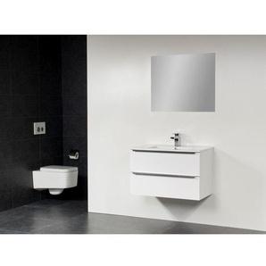 Saniclass EVO Meuble avec miroir 100cm 1 trou pour robinetterie Blanc