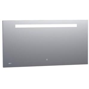 Saniclass Exclusive Line Clock Miroir 140x70cm avec éclairage et horloge aluminium 3882s