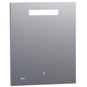 Saniclass Exclusive Line Clock miroir 60x70cm avec éclairage et horloge aluminium 3860s