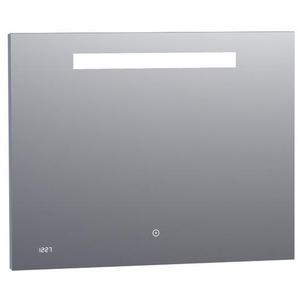 Saniclass Exclusive Line Clock miroir 90x70cm avec éclairage avec horloge aluminium 3890s