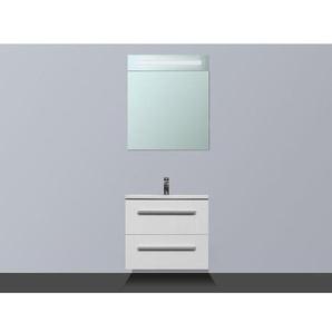 Saniclass Exclusive Line Kera Meuble avec armoire miroir D 60cm Blanc