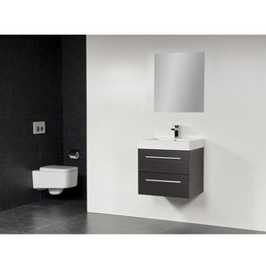 Saniclass Florence Meuble salle de bain avec miroir 58x47cm Black Wood SW190