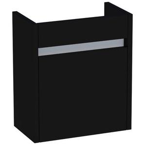 Saniclass Future Meuble sous lave mains 40x45x21.5cm porte frein de chute gauche noir brillant 1053