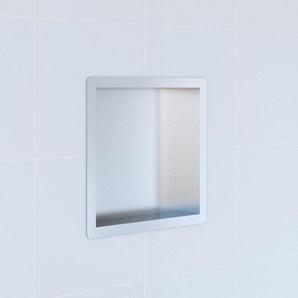 Saniclass Hide Niche à encastrer de luxe 30x30x7.5cm avec bride inox BOX-30x30ES