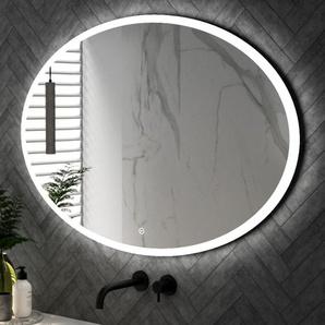 Saniclass Horizon Miroir ovale 120x80cm avec éclairage LED et interrupteur à écran tactile SP-HOR120