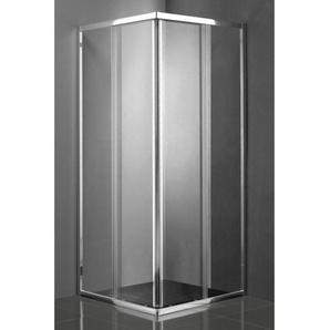 Saniclass Kay Cabine de douche 80x80x185cm carrée profilé chrome et verre claire