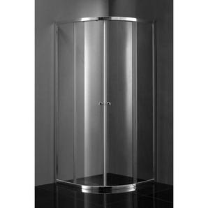 Saniclass Kay Cabine de douche 80x80x185cm quart de rond profil chromé et vitre transparente SW1207