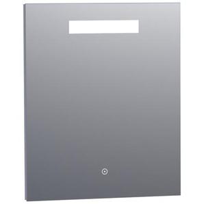 Saniclass Miroir 60x70cm avec éclairage aluminium 3886s