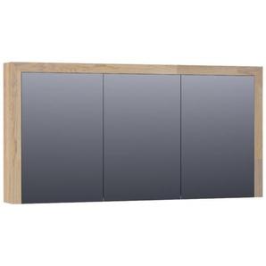 Saniclass Natural Wood Armoire de toilette 139x70x15cm Chêne massif abouté Grey Oak 70513