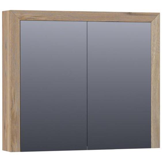 Saniclass Natural Wood Armoire de toilette 80x15x70cm Chêne massif Vintage Oak 70541VOG