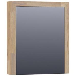 Saniclass Natural Wood armoire de toilette avec miroir 60x70x15cm 1 porte ouvre vers la gauche grey oak 70451L