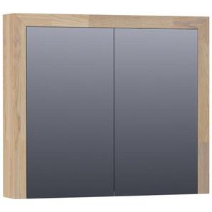 Saniclass Natural Wood Armoire de toilette avec miroir 80cm 2 portes 70541