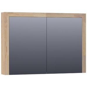 Saniclass Natural Wood Armoire de toilette avec miroir 99cm 2 portes Grey Oak 70481