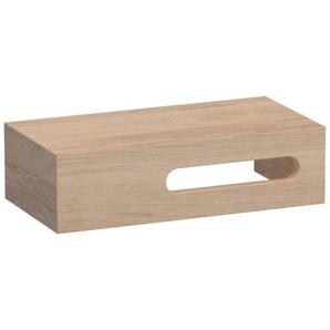 Saniclass Natural Wood Meuble sous lave-mains 40x20cm avec espace droite et lattes continues Smoked Oak 10083R