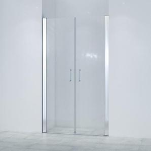 Saniclass Neptune Double portes 120x200cm verre de sécurité 6mm anti calcaire chrome SKII622SALOON-120