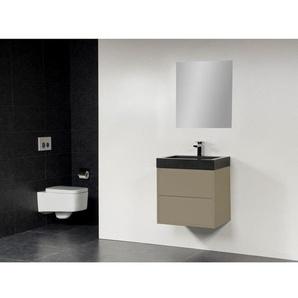 Saniclass New Future Black Spirit Meuble salle de bain 60cm avec miroir taupe