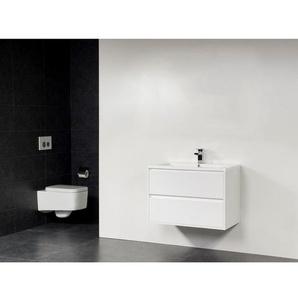Saniclass New Future Bologna meuble sans miroir 80cm Blanc brillant SW17782