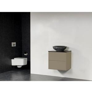 Saniclass New Future Corestone13 Vasque à poser martelé Meuble salle de bains 60cm sans miroir taupe