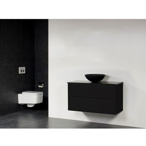 Saniclass New Future Corestone13 Vasque à poser noir Meuble salle de bains 100cm sans miroir noir
