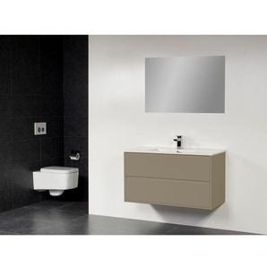 Saniclass New Future Empoli Meuble salle de bain 100cm avec miroir taupe