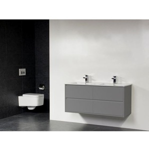 Saniclass New Future Empoli Meuble salle de bains 120cm sans miroir gris