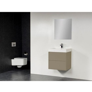 Saniclass New Future Florence Meuble salle de bain 60cm avec miroir taupe