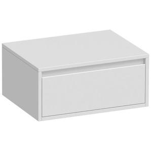 Saniclass New Future Thin meuble salle de bains 59x27x45.5cm avec planche lavabo avec softclose sans porte 1 tiroir blanc haute brilliance 1736