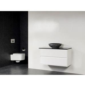 Saniclass New Future XXS Corestone13 vasque à poser martelé Meuble 100cm sans miroir Blanc