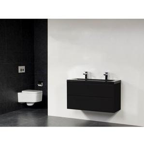 Saniclass New Future XXS Corestone13 Vasque meuble 100cm sans miroir noir
