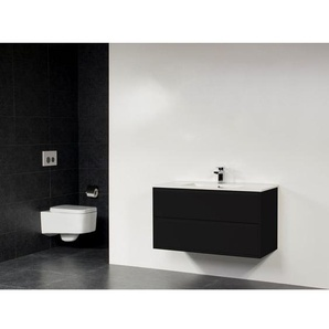 Saniclass New Future XXS Empoli Vasque meuble 100cm sans miroir noir