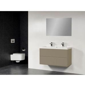 Saniclass New Future XXS Foggia Meuble salle de bain 100cm avec miroir taupe
