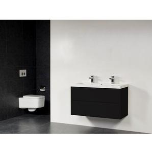 Saniclass New Future XXS Foggia Vasque meuble 100cm sans miroir noir