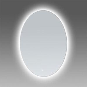Saniclass Select Miroir avec lumière LED 60x80x3cm ovale écran touch et cadre en aluminium brossé 3991
