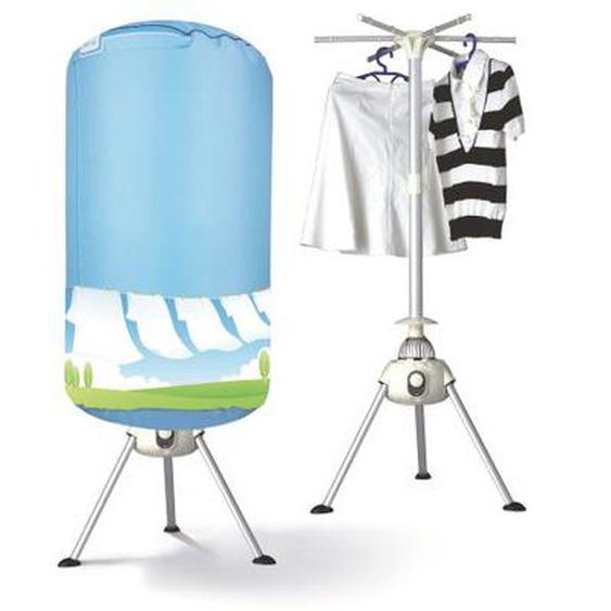 Séchoir à linge électrique chauffant 700W RAPID DRY Bleu et gris H135 cm