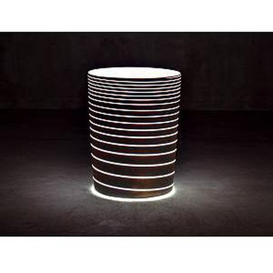 SERRALUNGA vase GRAND JANE avec lumière (Noir - LLDPE laqué)