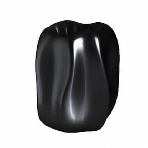 SERRALUNGA vase NEW WAVE (Noir - LLDPE laqué)