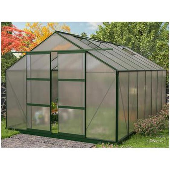 Serre de Jardin en polycarbonate de 15 m² OXALIS avec embase