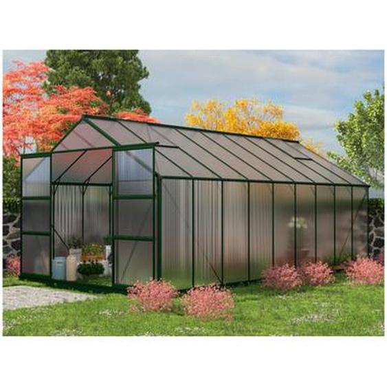 Serre de Jardin en polycarbonate de 16,8 m² IXORA avec embase