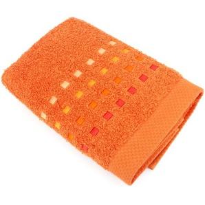 Serviette de toilette 50x100 cm 100% coton 550 g/m2 PURE PRIMAVERA Orange Butane
