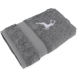 Serviette de toilette 50x100 cm HIRSH Anthracite/Gris 600 g/m2