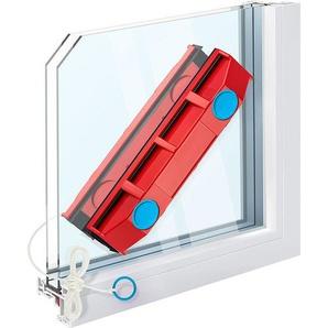 SHOP-STORY - Raclette lave vitre aimanté - Nettoyeur magnétique avec 2 chiffons en microfibre pour fenêtres à double vitrage