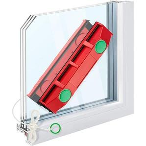 SHOP-STORY - Raclette lave vitre aimanté - Nettoyeur magnétique avec 2 chiffons en microfibre pour fenêtres à triple vitrage